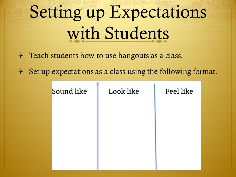 Setting up Expectations with Students