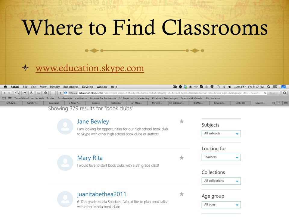 Where to Find Classrooms