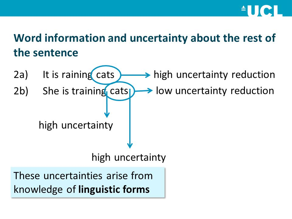 Word information and uncertainty about the rest of the sentence