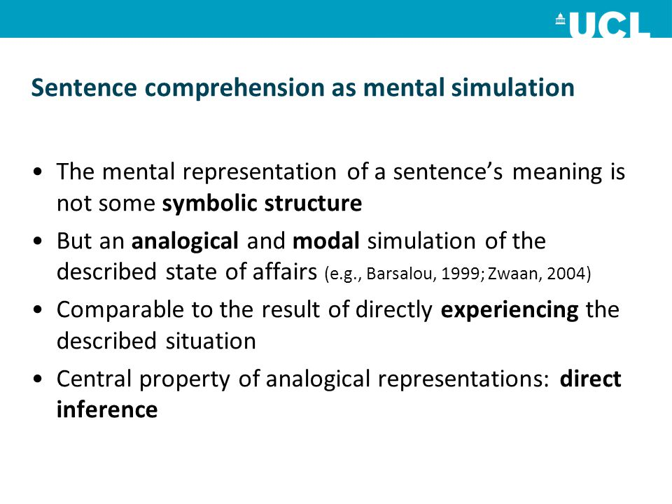 Sentence comprehension as mental simulation