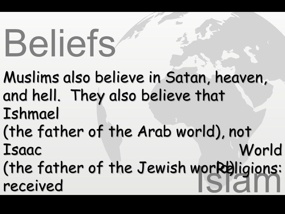 Beliefs Islam Muslims also believe in Satan, heaven,