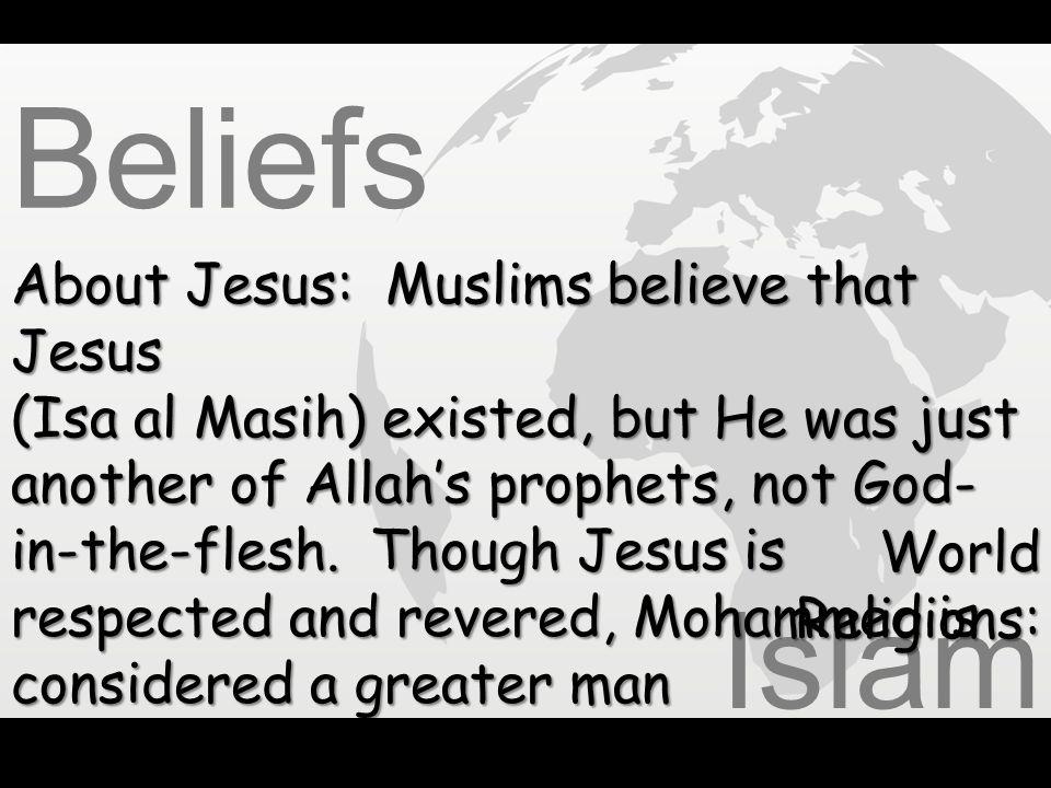 Beliefs Islam About Jesus: Muslims believe that Jesus
