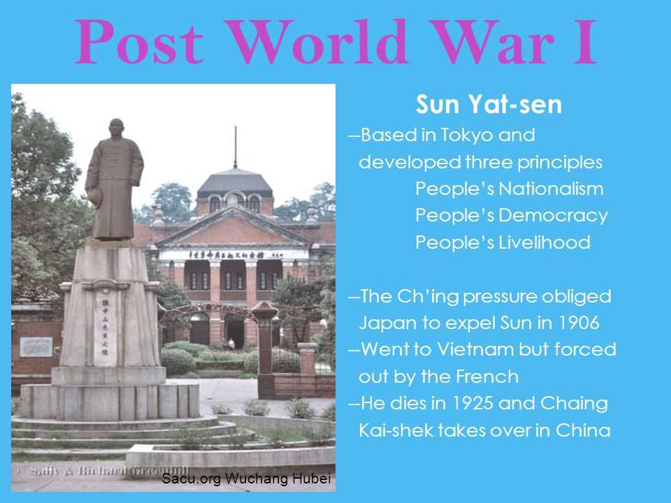 Post World War I Sun Yat-sen --Based in Tokyo and