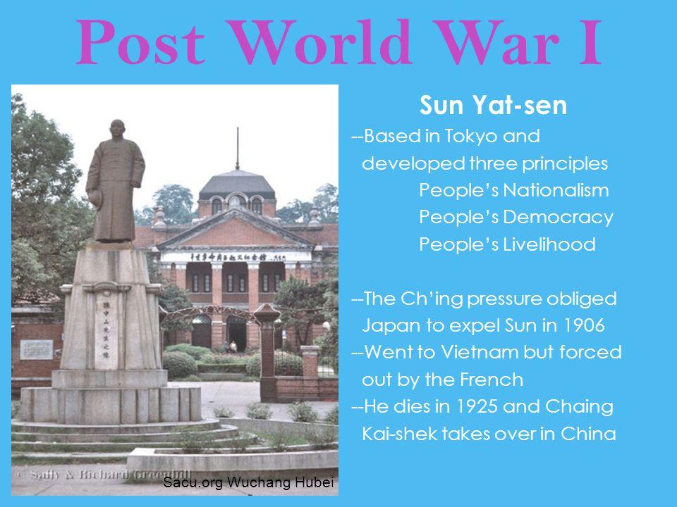 Post World War I Sun Yat-sen --Based in Tokyo and