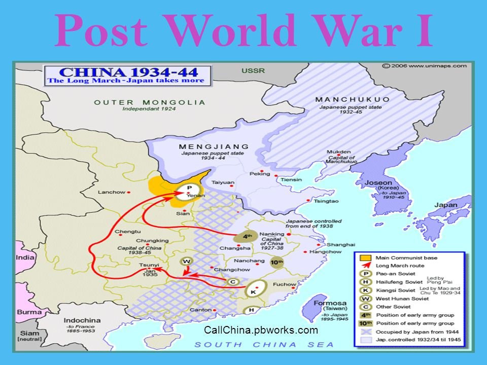 Post World War I CallChina.pbworks.com