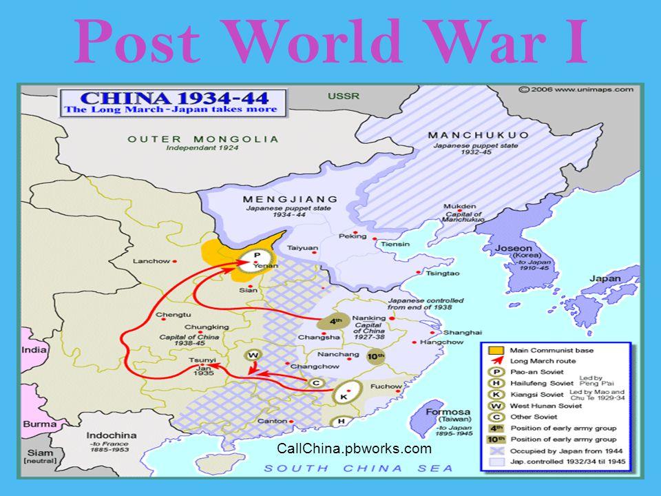 Post World War I CallChina.pbworks.com