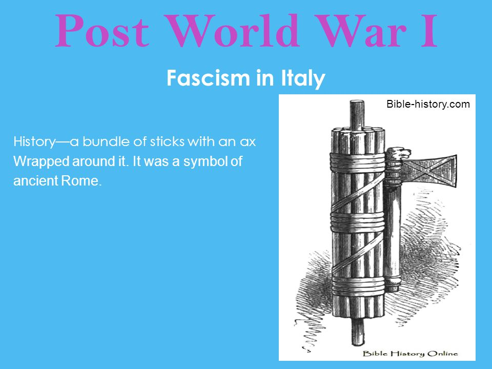 Post World War I Fascism in Italy