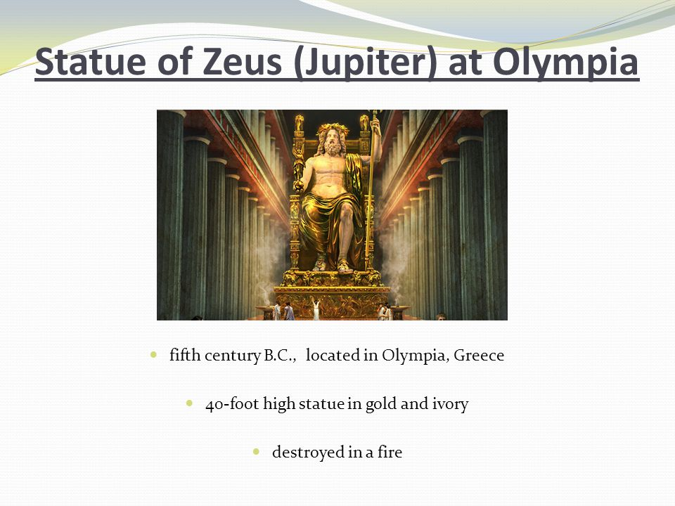 Statue of Zeus (Jupiter) at Olympia