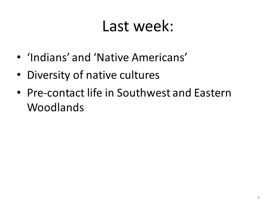 Last week: 'Indians' and 'Native Americans'