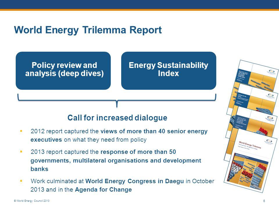 World Energy Trilemma Report