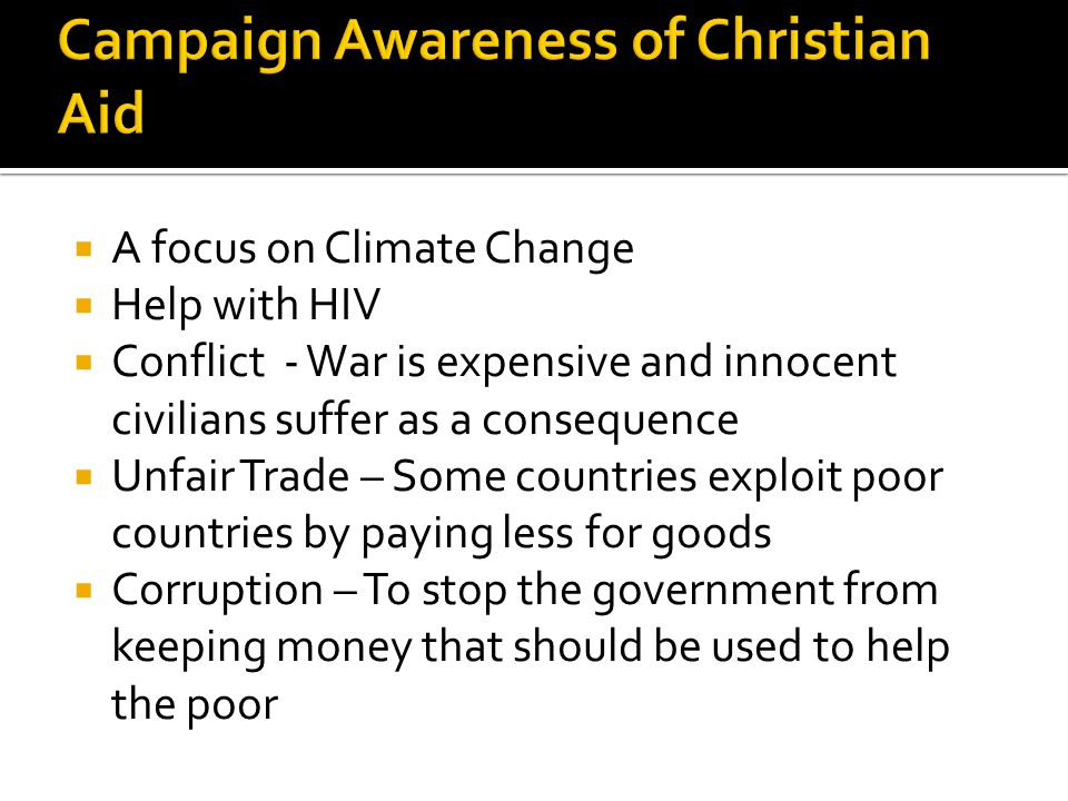 Campaign Awareness of Christian Aid