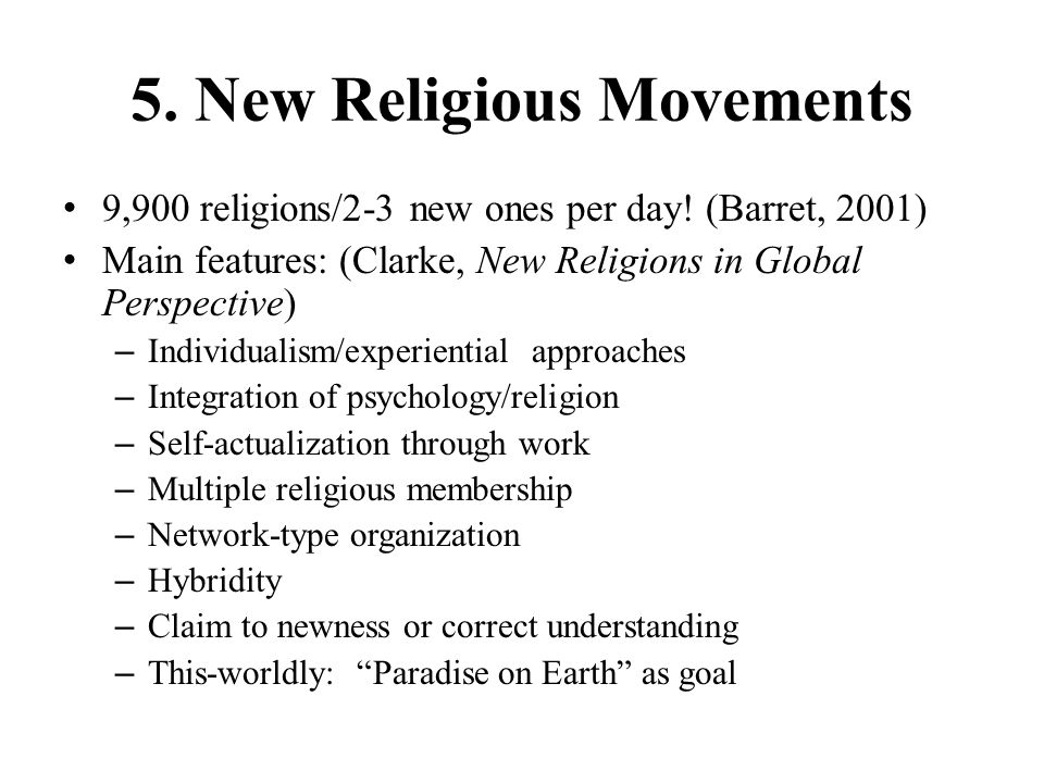 5. New Religious Movements
