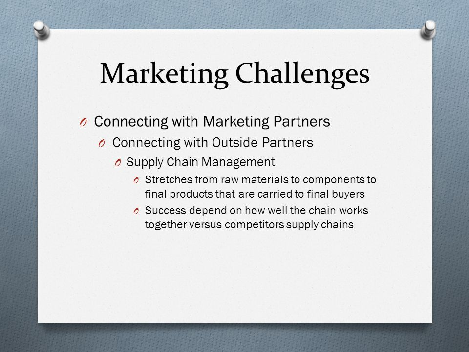 Marketing Challenges Connecting with Marketing Partners