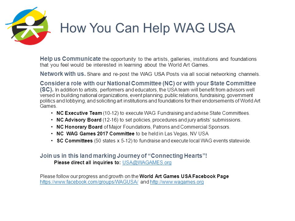 How You Can Help WAG USA