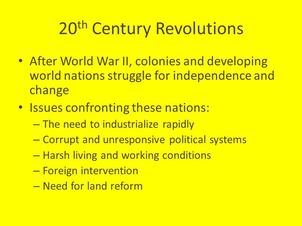 20th Century Revolutions