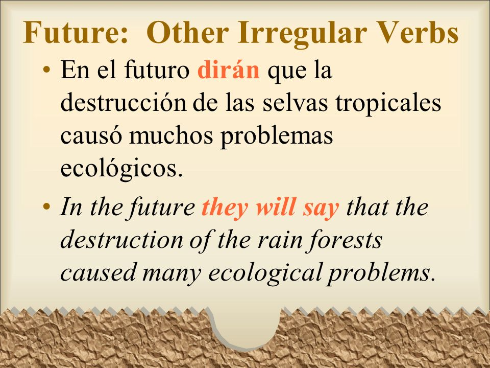 Future: Other Irregular Verbs