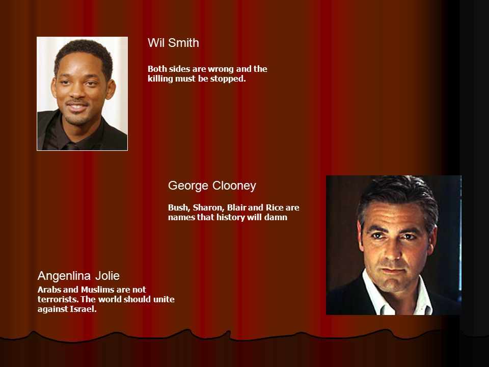 Wil Smith George Clooney Angenlina Jolie