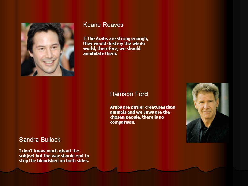 Keanu Reaves Harrison Ford Sandra Bullock