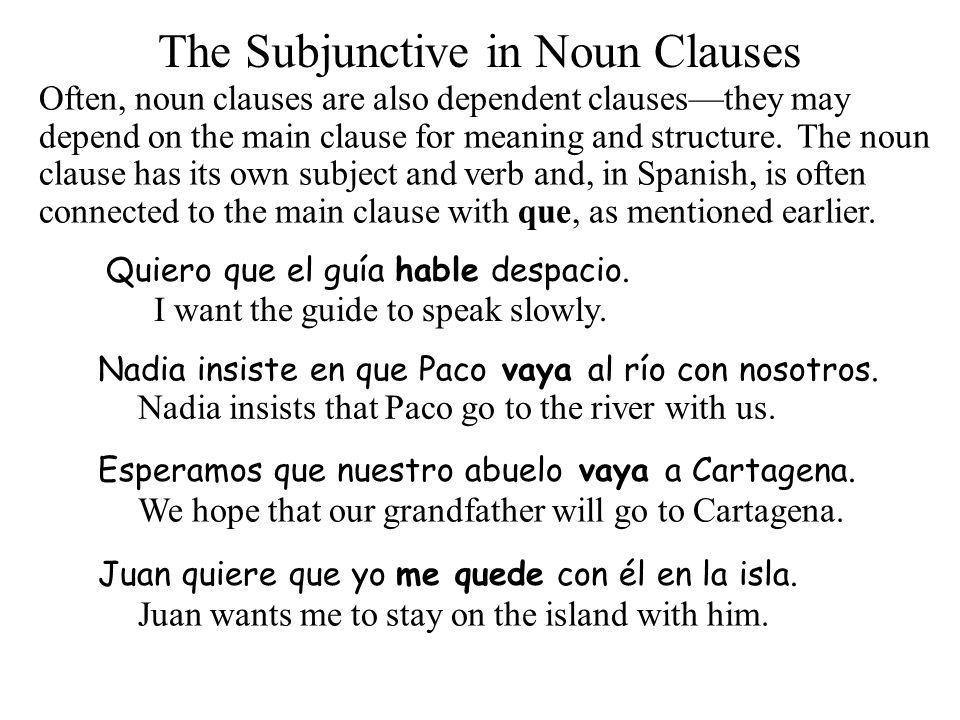 The Subjunctive in Nou...