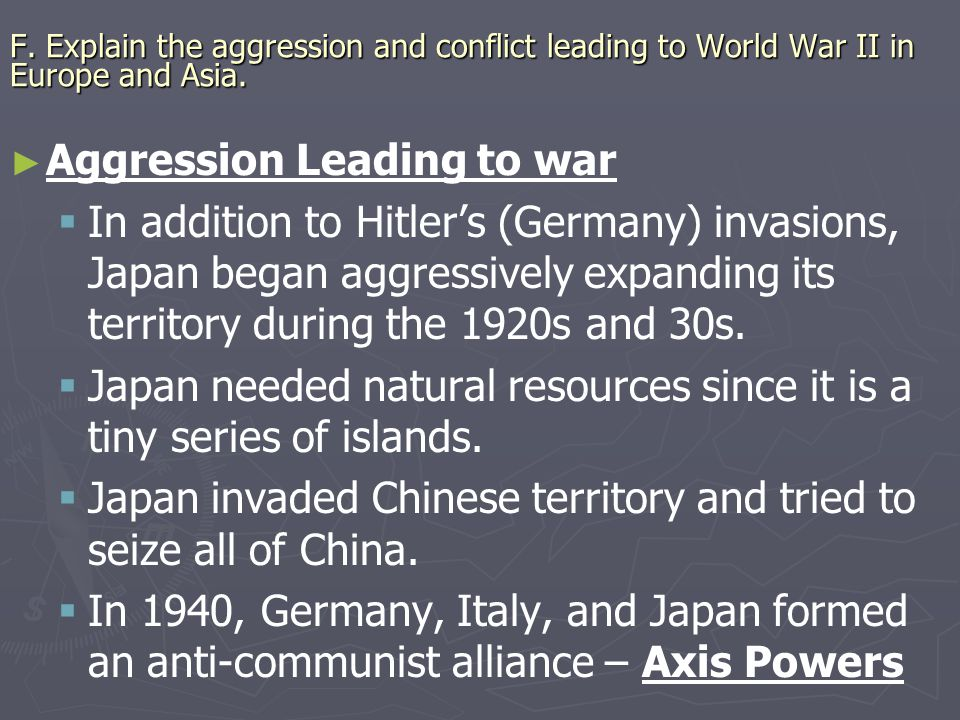 Aggression Leading to war