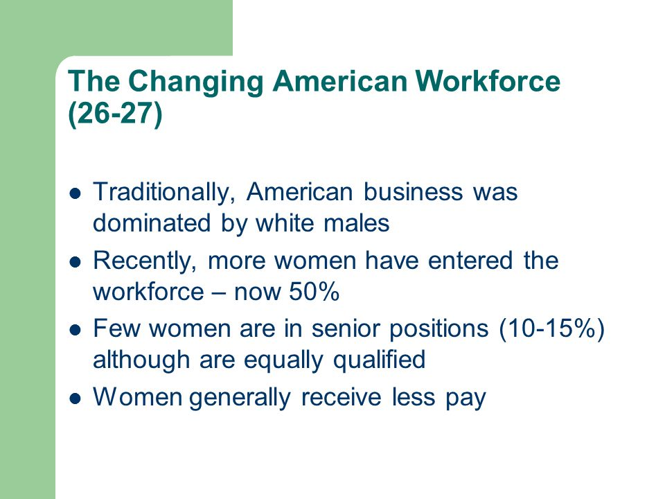 The Changing American Workforce (26-27)