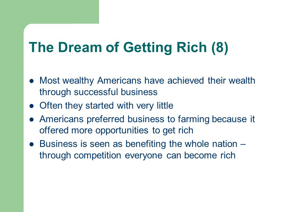 The Dream of Getting Rich (8)