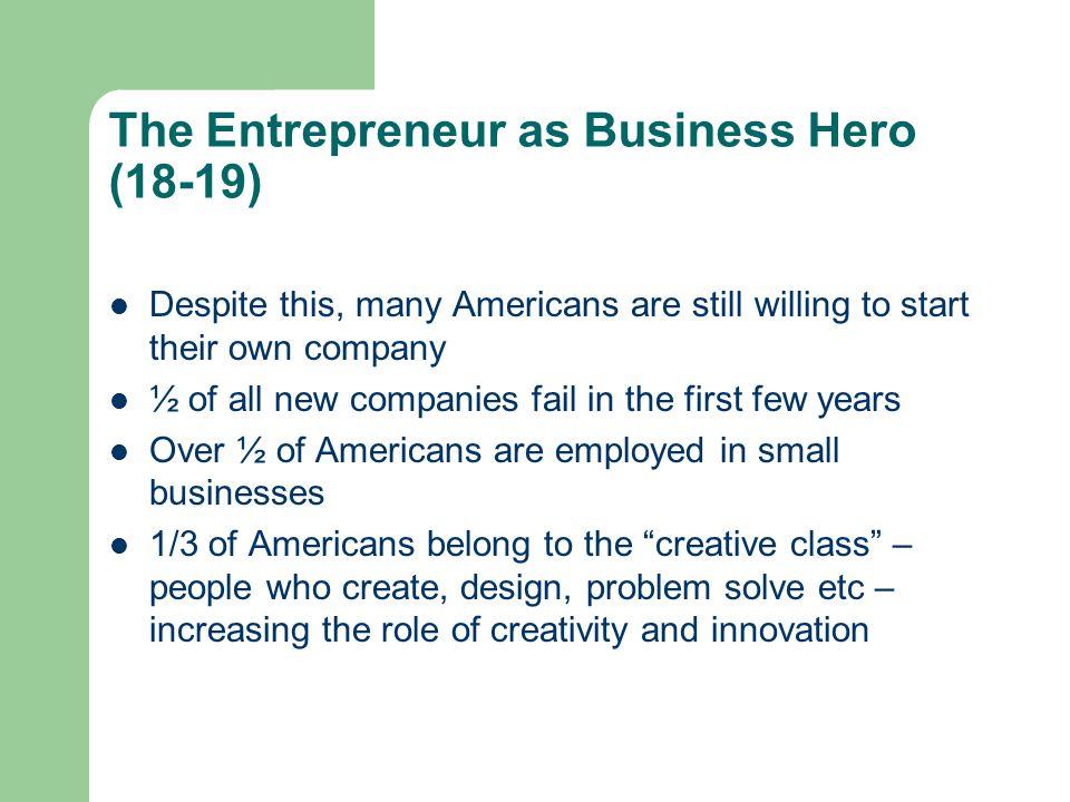 The Entrepreneur as Business Hero (18-19)