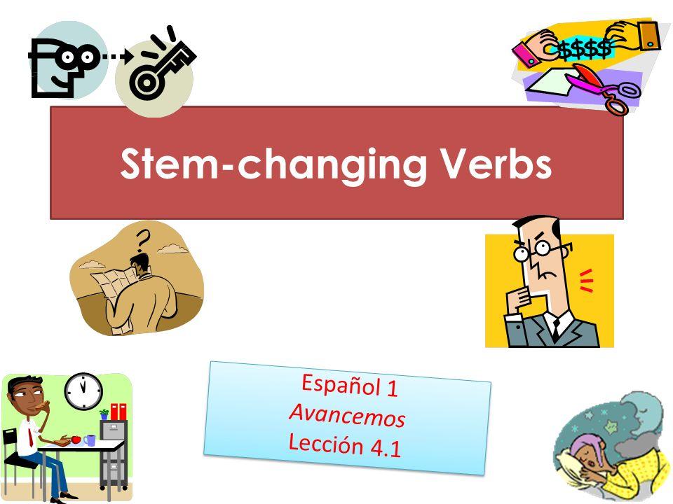 Español 1 Avancemos Lección 4.1