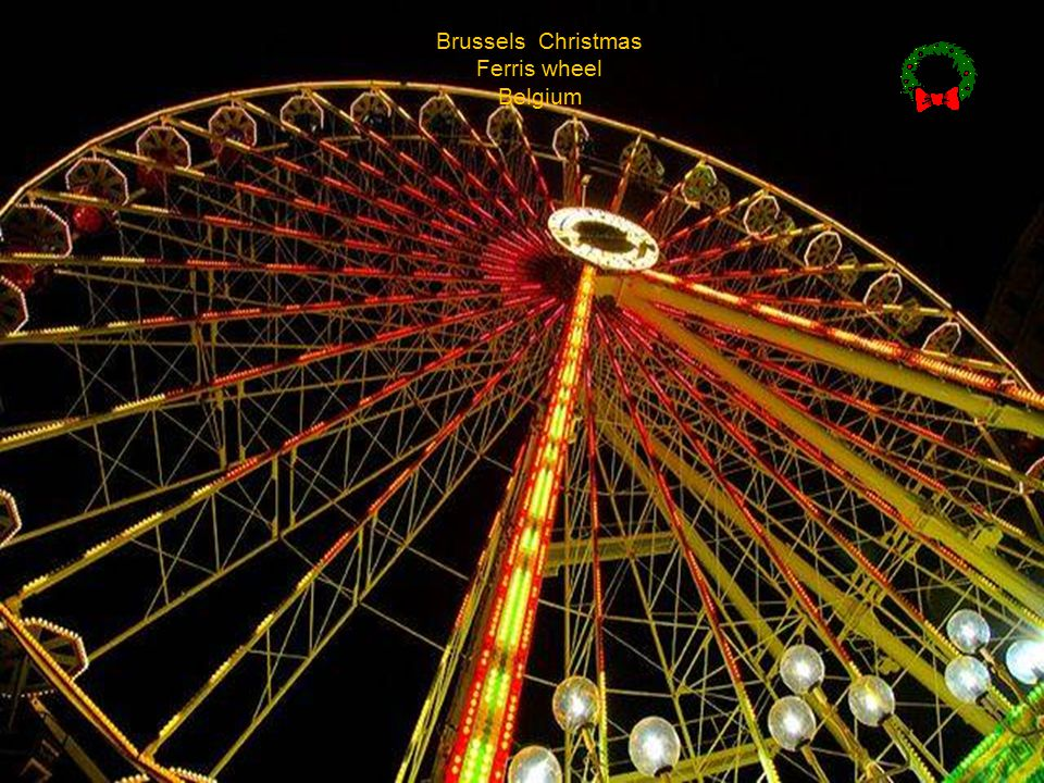 Brussels Christmas Ferris wheel Belgium