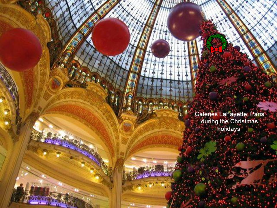Galeries LaFayette, Paris during the Christmas holidays.