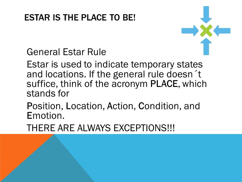 Estar is the place to be!