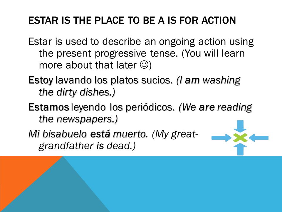 Estar is the place to be a is for ACTION