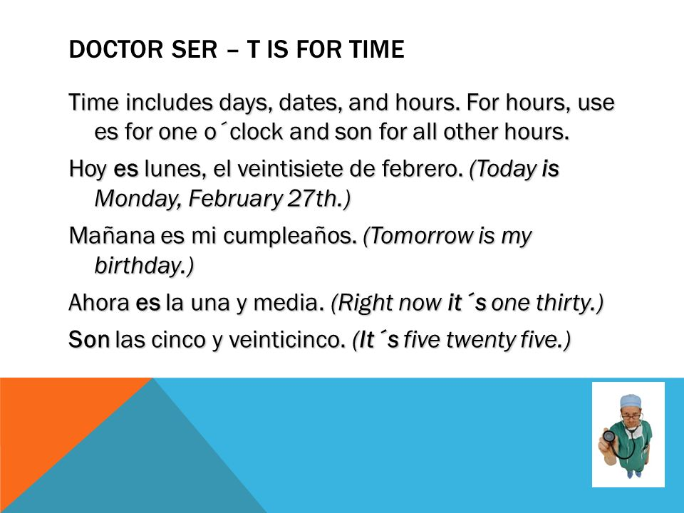 Doctor Ser – T is for time