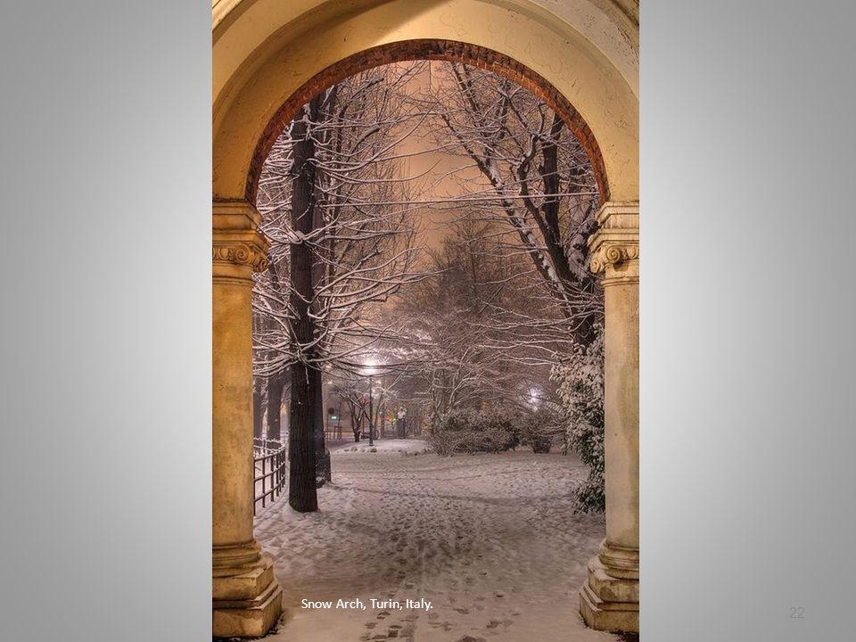 Snow Arch, Turin, Italy.