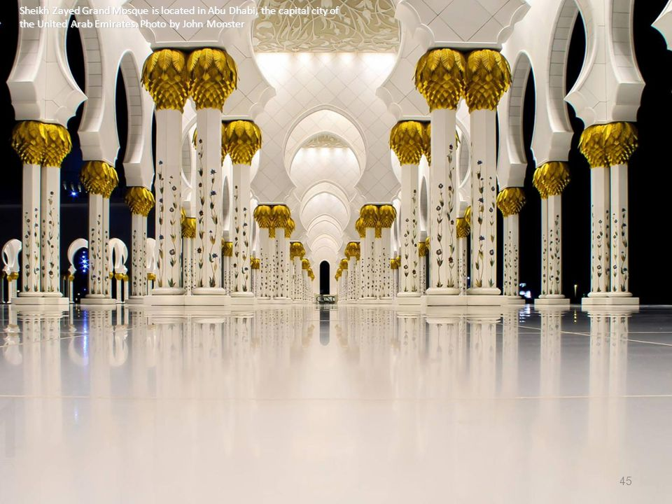 Sheikh Zayed Grand Mosque is located in Abu Dhabi, the capital city of the United Arab Emirates.