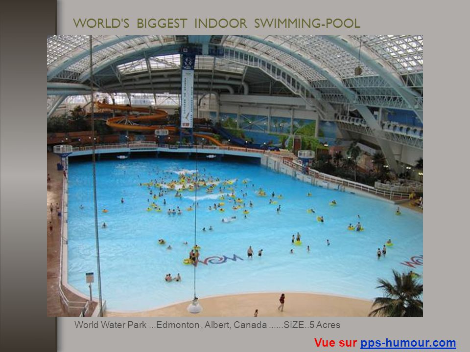 WORLD S BIGGEST INDOOR SWIMMING-POOL