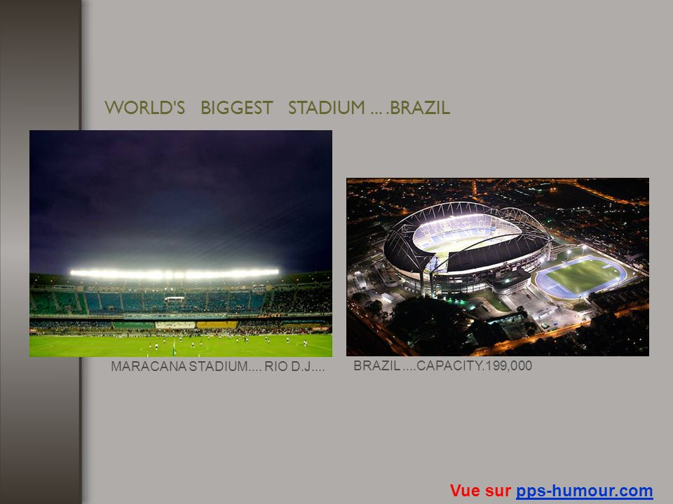 WORLD S BIGGEST STADIUM ... .BRAZIL
