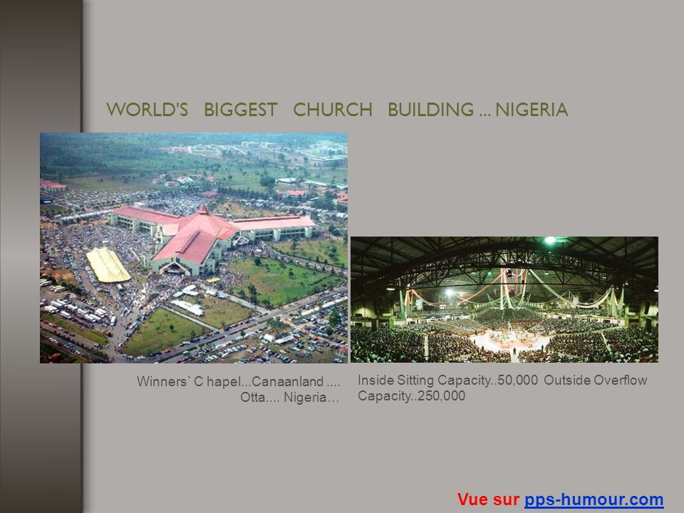 WORLD S BIGGEST CHURCH BUILDING ... NIGERIA