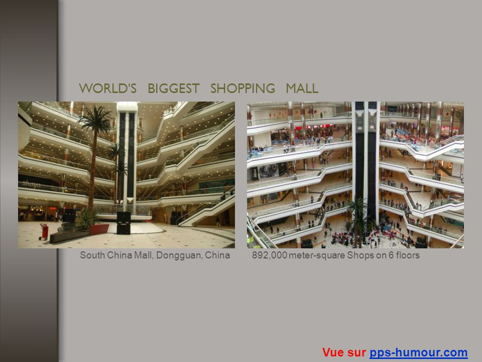 WORLD S BIGGEST SHOPPING MALL