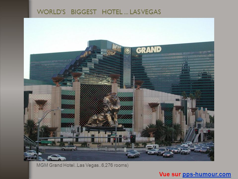 WORLD S BIGGEST HOTEL ... LAS VEGAS