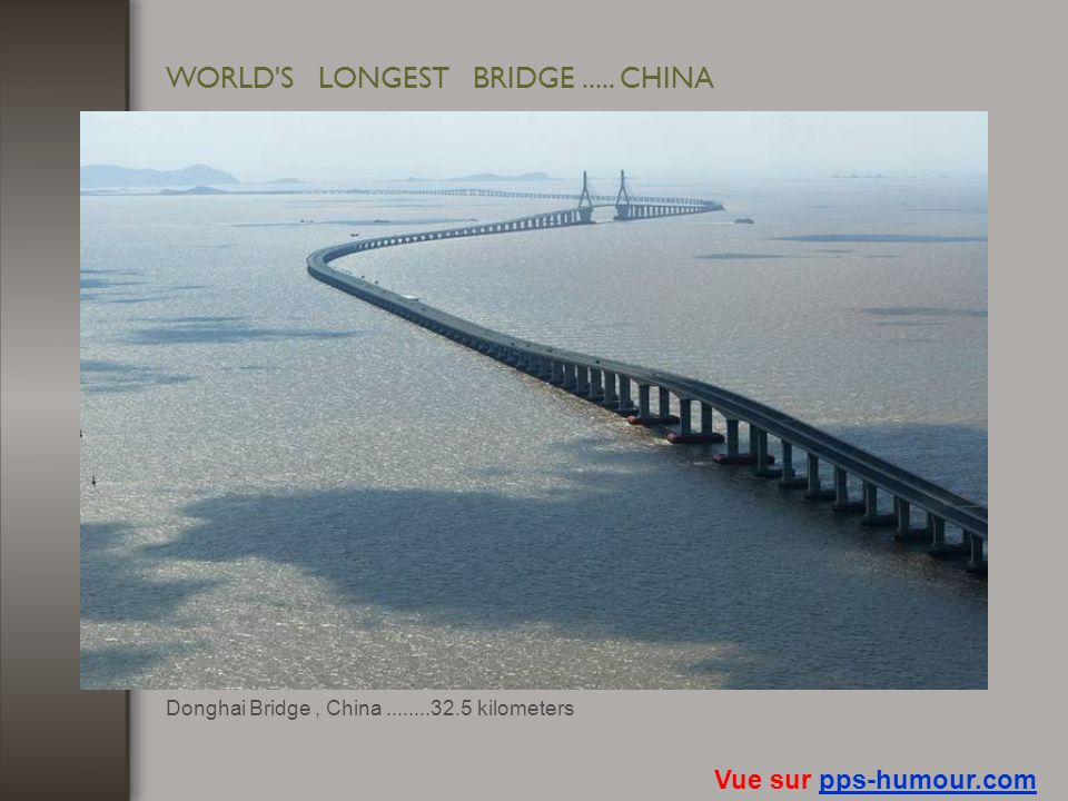 WORLD S LONGEST BRIDGE ..... CHINA