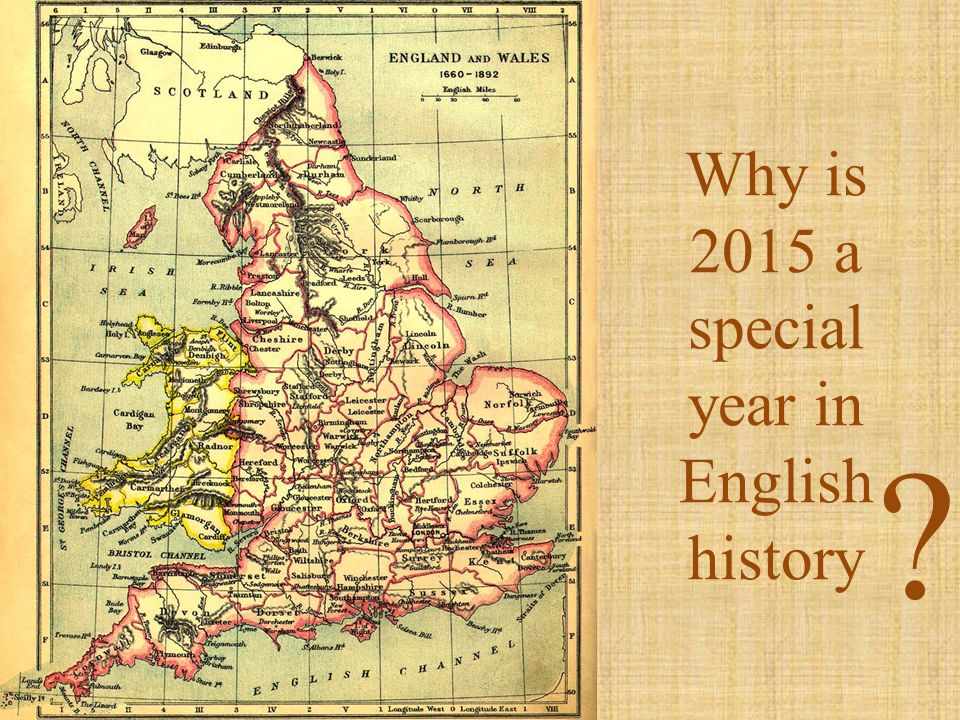 Why is 2015 a special year in English history
