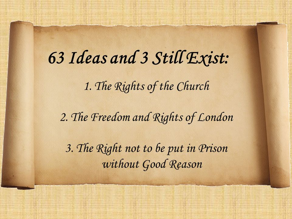 63 Ideas and 3 Still Exist: The Rights of the Church