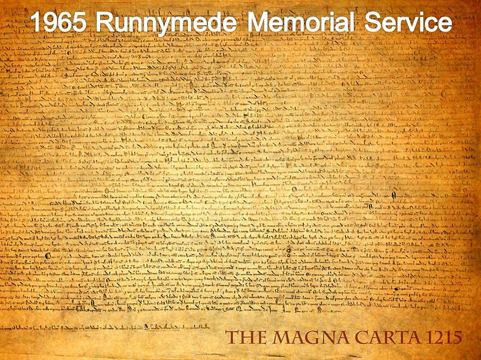 1965 Runnymede Memorial Service