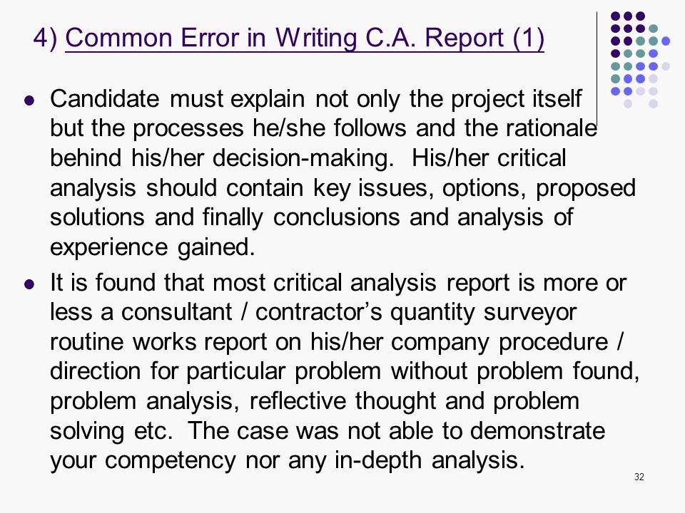 4) Common Error in Writing C.A. Report (1)