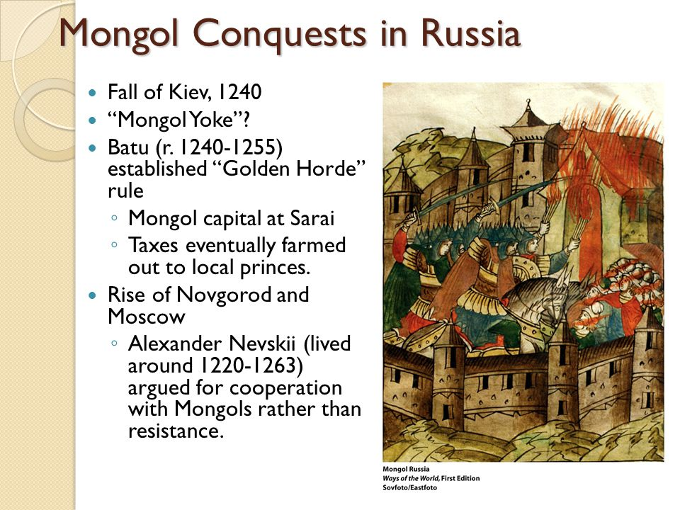 Mongol Conquests in Russia