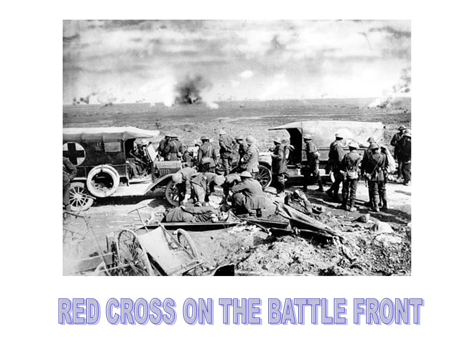 RED CROSS ON THE BATTLE FRONT