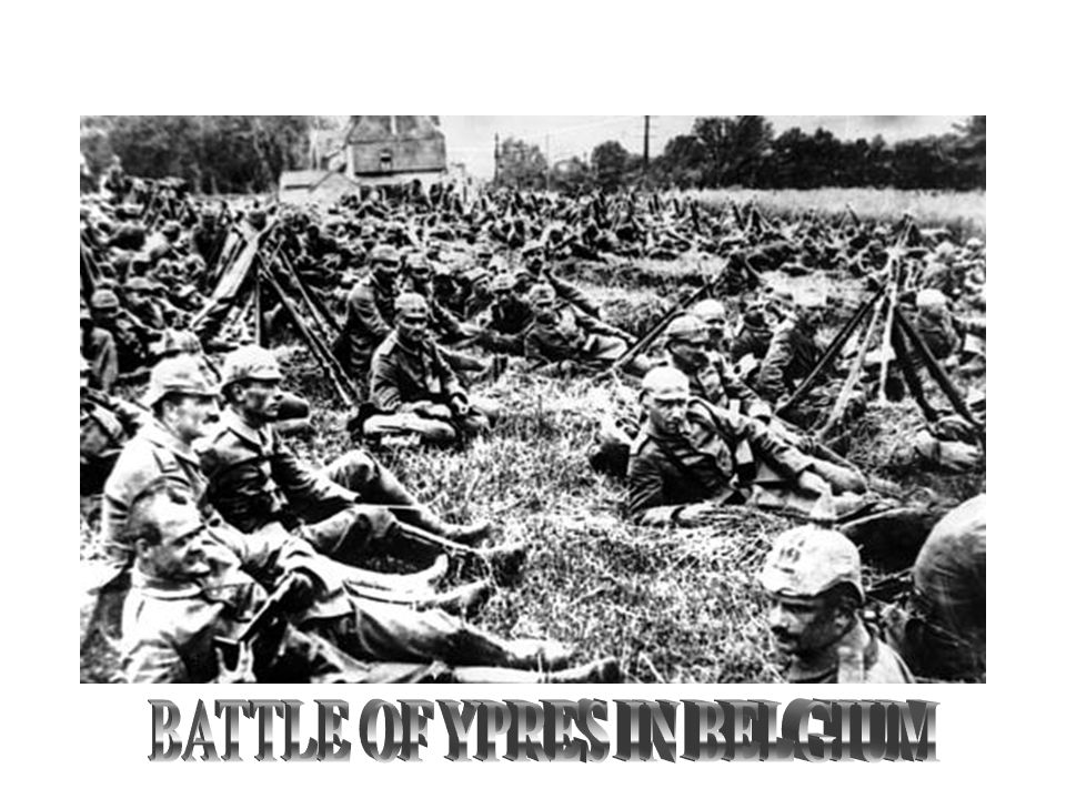 BATTLE OF YPRES IN BELGIUM