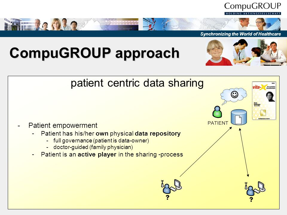 CompuGROUP approach patient centric data sharing  Patient empowerment