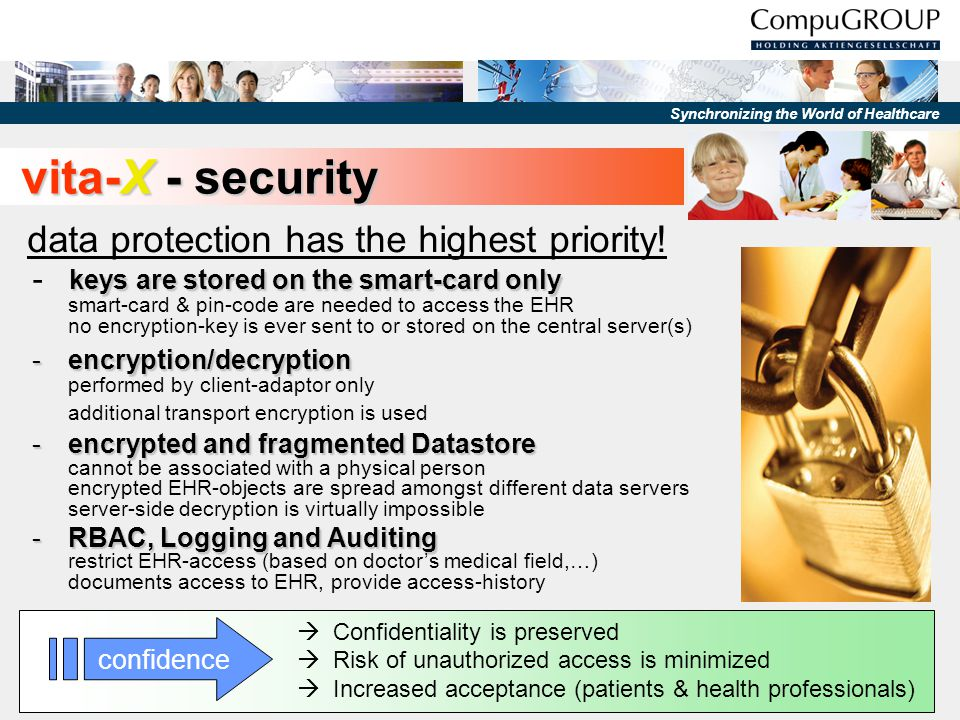 vita-X - security data protection has the highest priority!